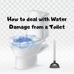water damage from a toilet
